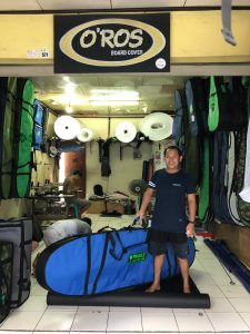 surfing in bali surf guide custom board bag oros board cover kuta