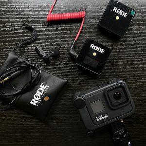 gopro for vlogging hero 8 travel vlog setup rode wireless go media mod