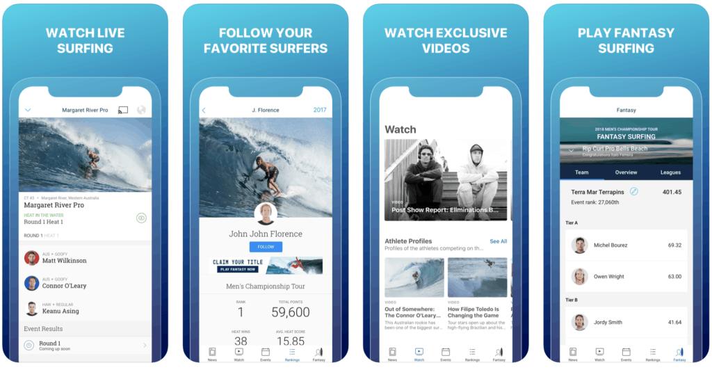 best surf apps world surf league wsl surfers