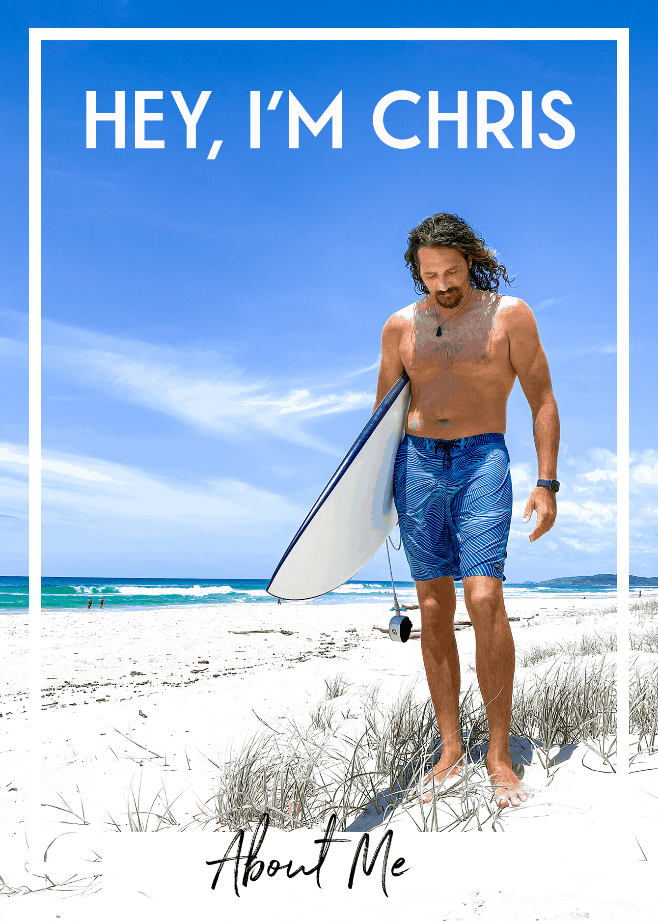 chris stevens stoked for travel blogger surf