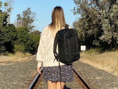 db bags review hugger backpack pro cia camera insert hand luggage only